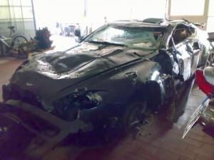 Paul Misar Auto nach seinem Unfall