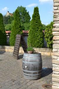 Weinfass im Hof