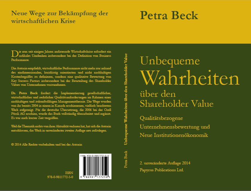 Shareholder Value, Dr. Petra Beck, final cover