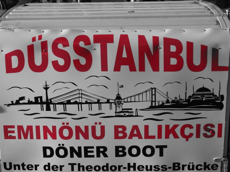 Werbeschild Dönerschiff Düsseldorf by Frank Schulz