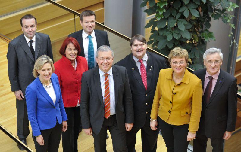 Die CSU-Europagruppe um Markus Ferber