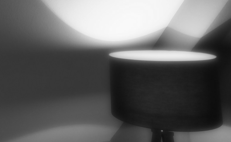 Krabbe von Greetsiel Zimmer mit Lampe