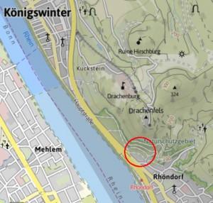 Standort Weinhotel Drachenloch in Rhöndorf