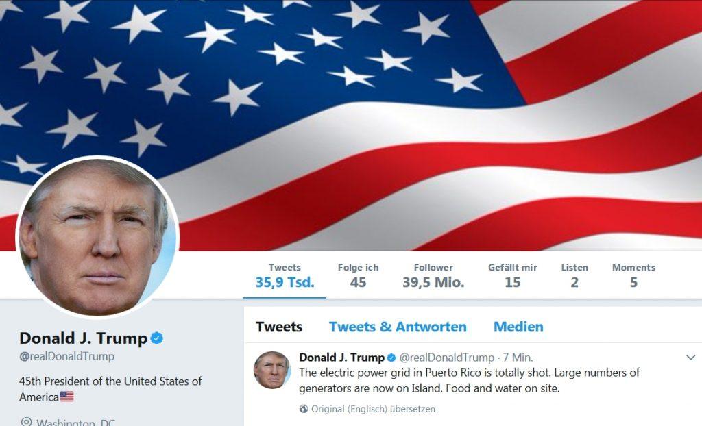 Donald Trump Twitter Personal Branding