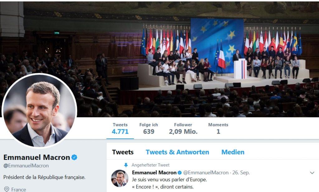 emmanuel macron twitter personal branding