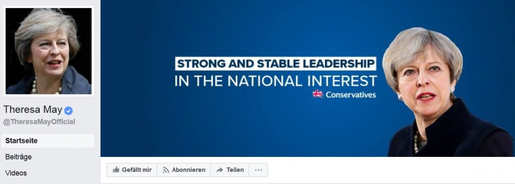 theresa may facebook personal branding