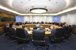 EZB Governing Council Meeting Photo