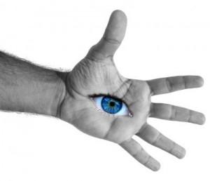 Hand Auge von Pixelio